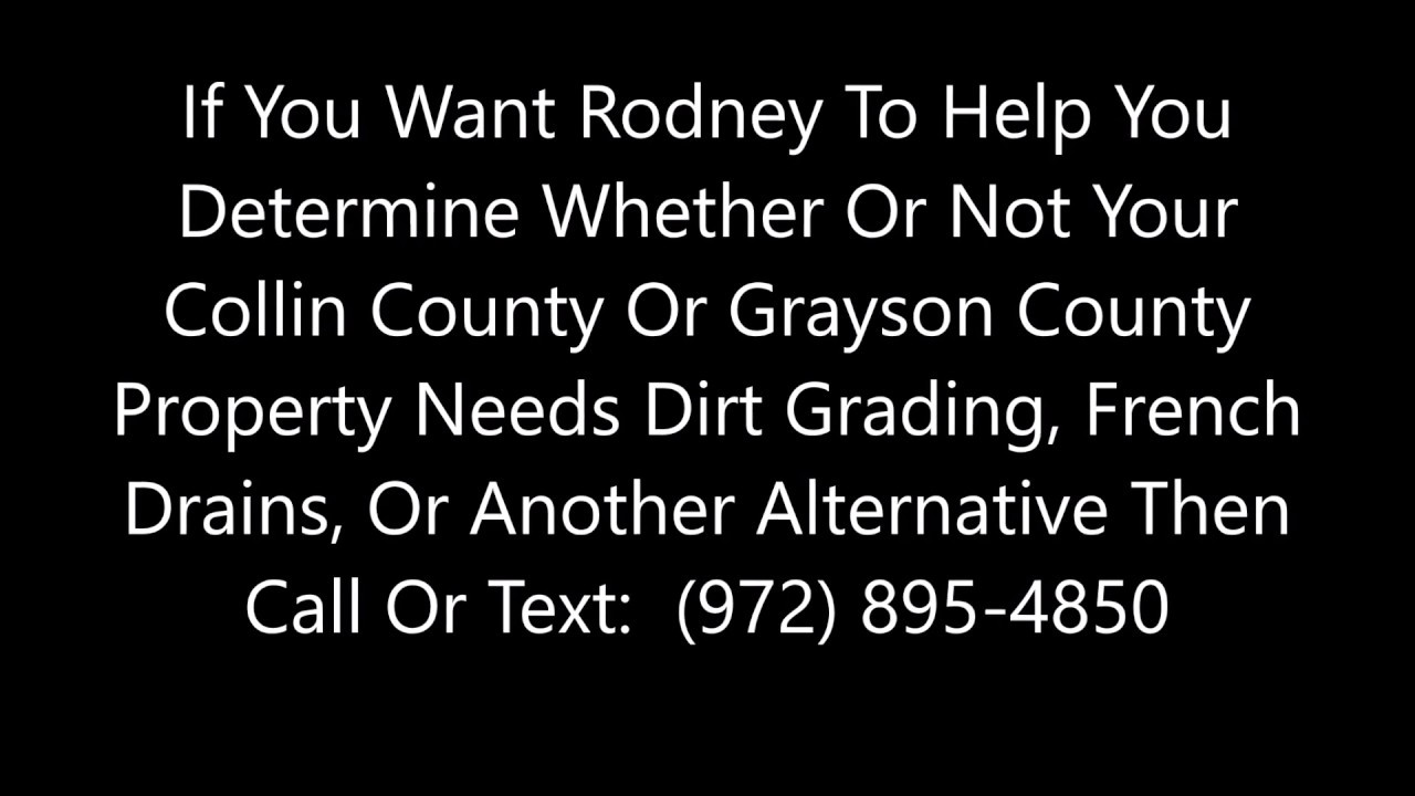 Download Yard Drainage And French Drains In McKinney, Sherman, Plano, And Collin And Grayson Counties