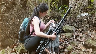 Jungle Life: Excellent Gunman - Hunting Two Wild Rabbits In The Forest - Yumi Lifestyle