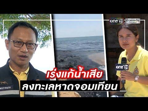 เร่งแก้น้ำเสียลงทะเลหาดจอมเทียน   ข่าวช่องวัน   one31