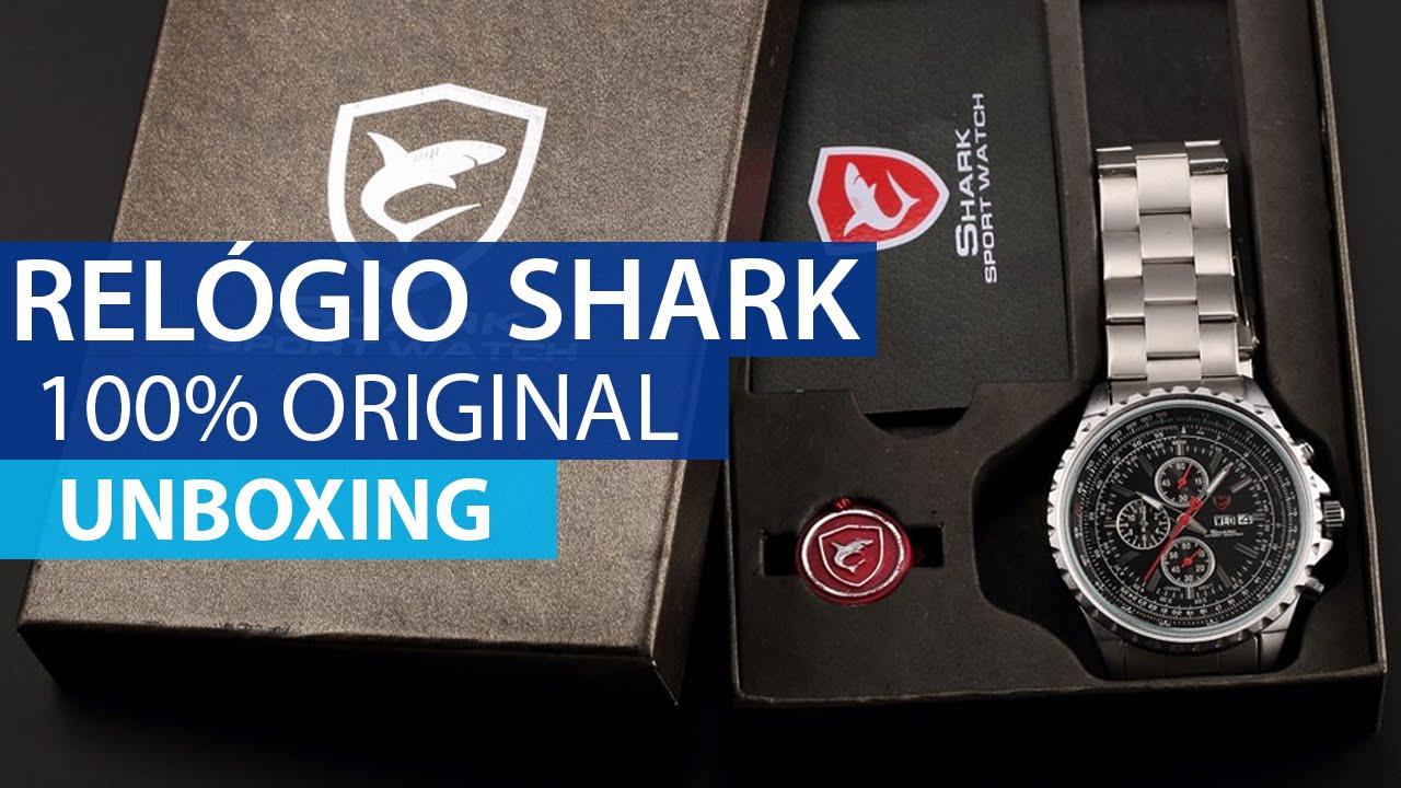 184b2e0b9a6c5 Unboxing de um Relógio da SHARK comprado no Aliexpress  TRIBUTADO  - YouTube