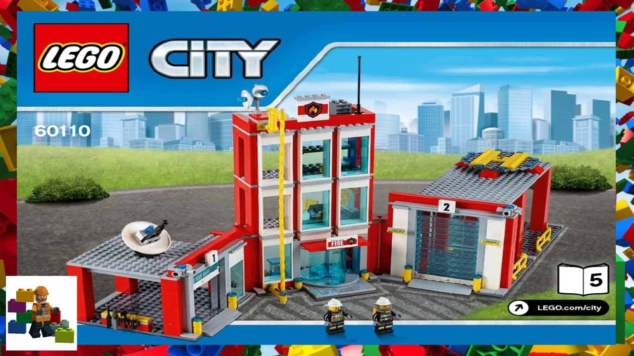 Lego Instructions City Fire 60110 Fire Station Book 5