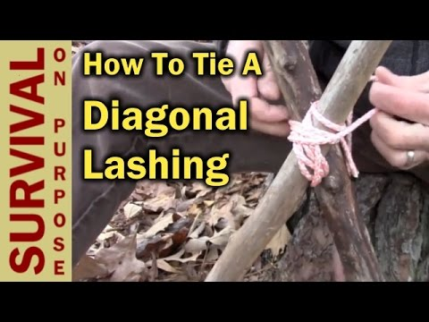 hqdefault how to tie a diagonal lashing boy scout knots and lashing youtube