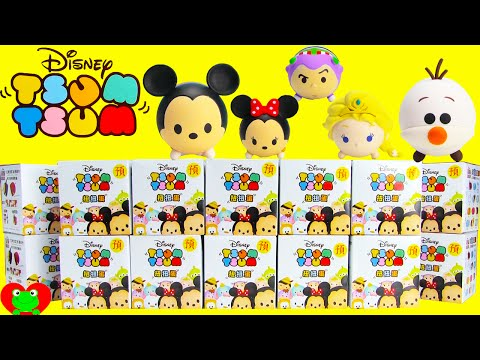 Disney Tsum Tsum Mickey Mouse, Olaf and Elsa Surprise Mystery Boxes