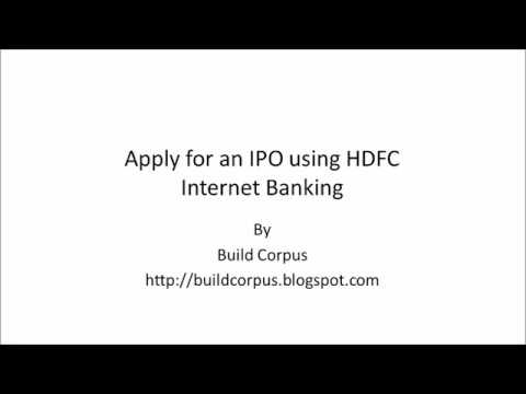 How to Apply IPO Online - HDFC Bank Account