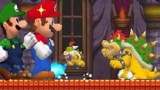 Repeat youtube video New Super Mario Bros. DS - Mega Mushroom Boss Pwnage (All Bosses)