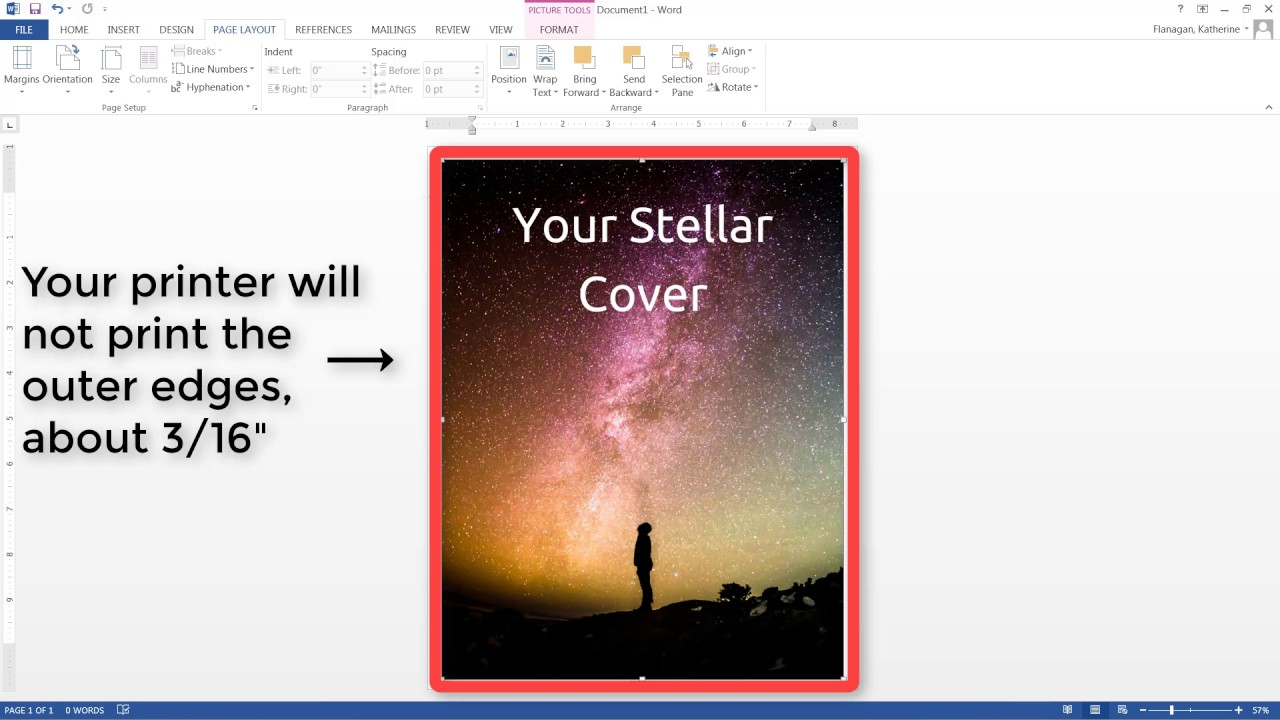How To Print Edge Of Document In Microsoft Word 2013
