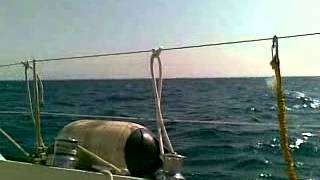 dufour 2800 sailing in the sun
