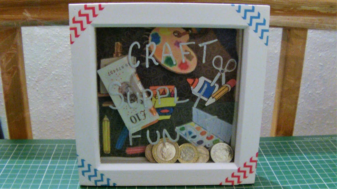 How To Make A Box Frame Money Box - YouTube