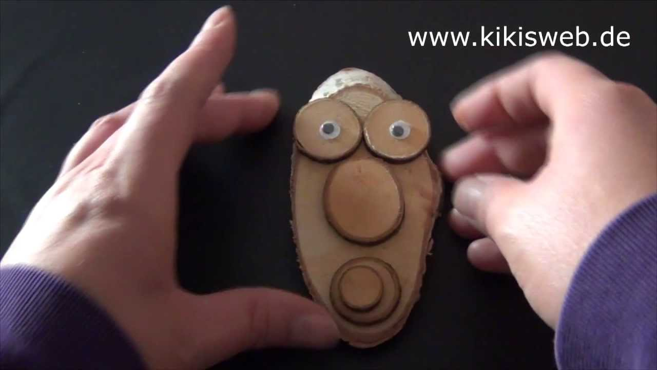 Basteln Baumscheiben Gesicht Youtube