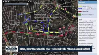 MMDA, magpapatupad ng traffic re-routing para sa #ASEAN Summit