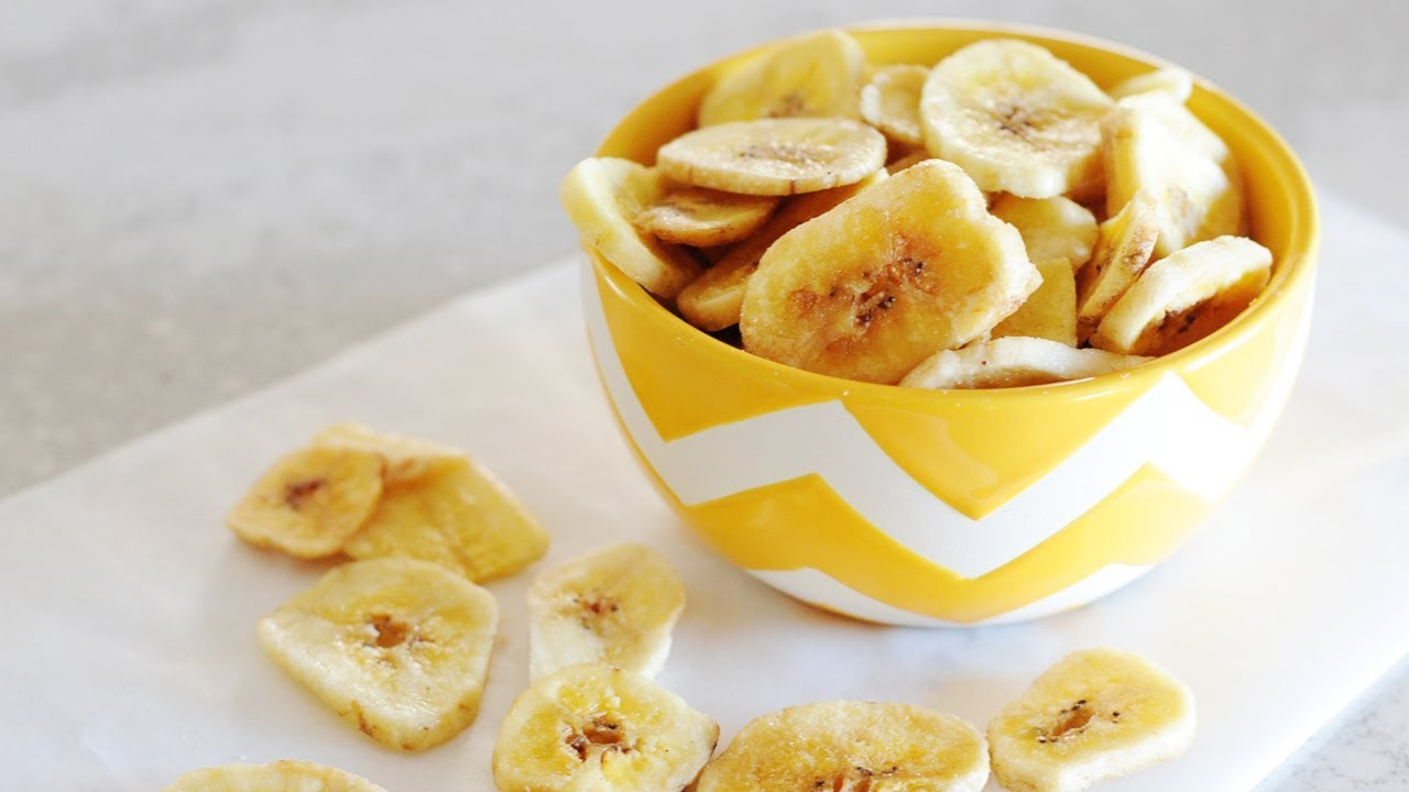 Ninja Foodi dehydrated Banana Chips