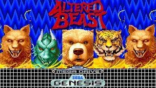 Altered Beast - Mega Drive: Primeira Gameplay