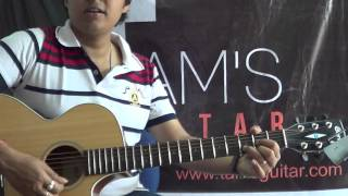 Guitar Lesson:4 hindi songs simplified medley using 4 basic chords lesson (www.tamsguitar.com)