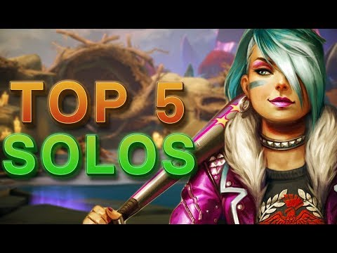 CURRENT TOP 5 SOLO LANE GODS TO PLAY - Smite