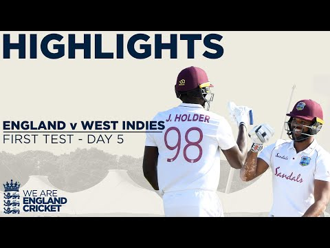 Day 5 Highlights | Windies Win Thrilling Test | England v We