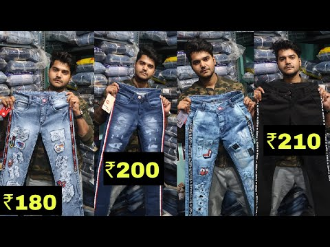 सबसे सस्ता मार्केट | CHEAPEST WHOLESALE JEANS MARKET | DENIM COTTON DAMAGE WORK | 7 STAR COLLECTION