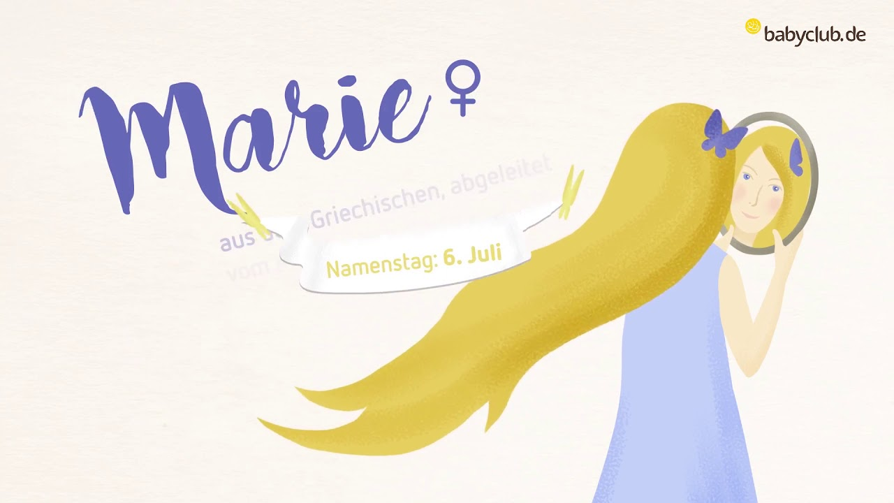 Marie Bedeutung