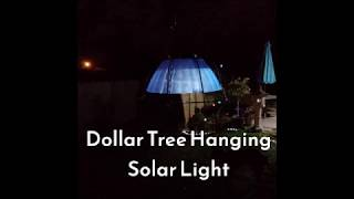 Dollar Tree DIY ~ How to make a Solar Hanging Lamp for the Garden