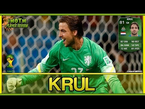 FIFA 14 UT - iMOTM Krul || World Cup iMOTM Ultimate Team 81 Player Review + In Game Stats