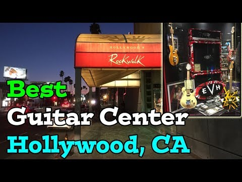 Best Guitar Center Store - Hollywood California - Rock Walk