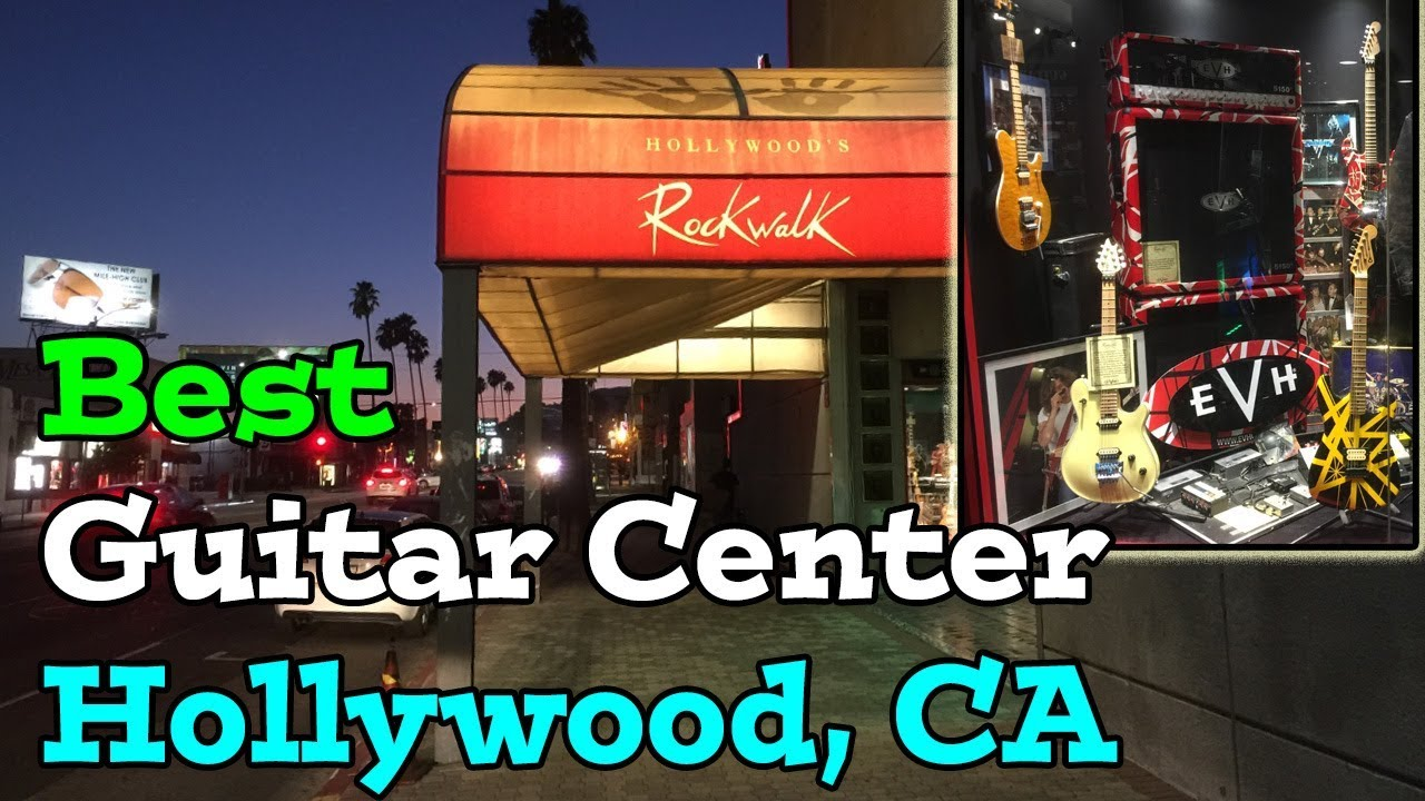 best guitar center store hollywood california rock walk youtube. Black Bedroom Furniture Sets. Home Design Ideas