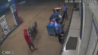 चरोदा पेट्रोल पंप लूटकांडः सीसीटीवी में कैद हुई वारदात, देखिये किस तरह घटना को दिया था अंजाम