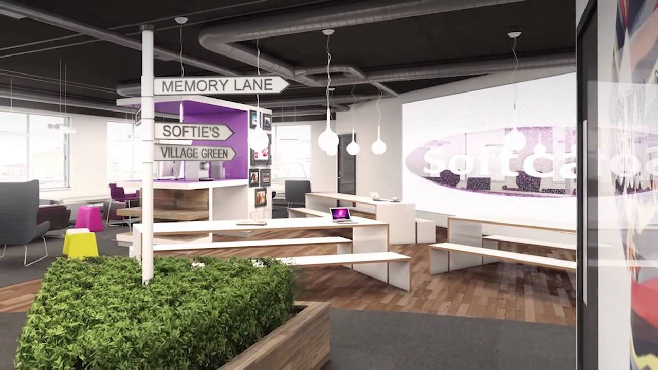 Office design concept for softcat youtube for Office design concepts and needs