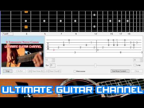 [Guitar Solo Tab] If Tomorrow Never Comes (Garth Brooks / Ronan Keating)