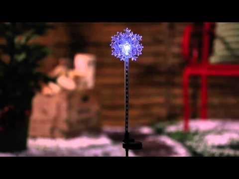 Solar Chasing Snowflake Garden Stakes (2SP4379) From Evergreen Garden