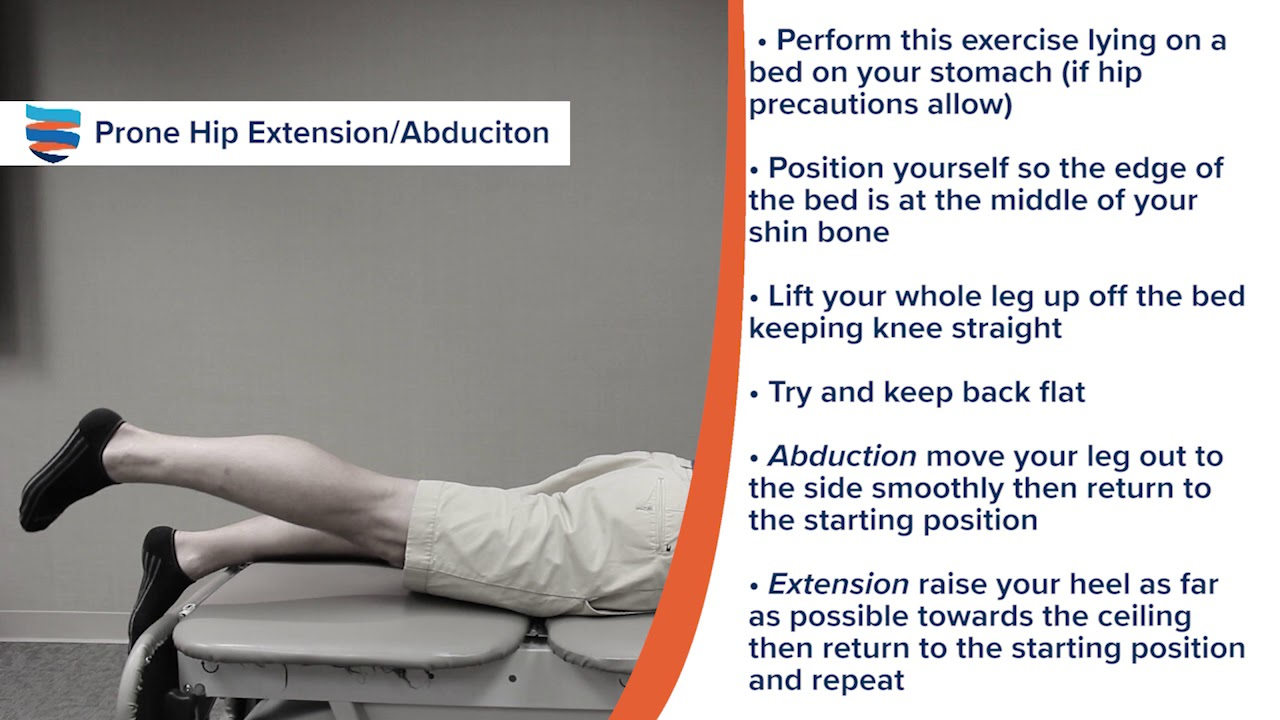 Prone Hip Extension Abduction - YouTube