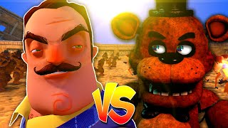 FNAF gegen HELLO NEIGHBOR! (UEBS: Ultimate Epic Battle Simulator)