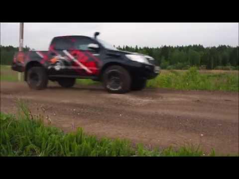 Сравнительный тест штатная подвеска Toyota Hilux VS усиленная подвеска РИФ