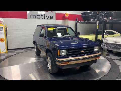 1987 Chevrolet S10 Blazer For Sale At MAXmotive - U0558