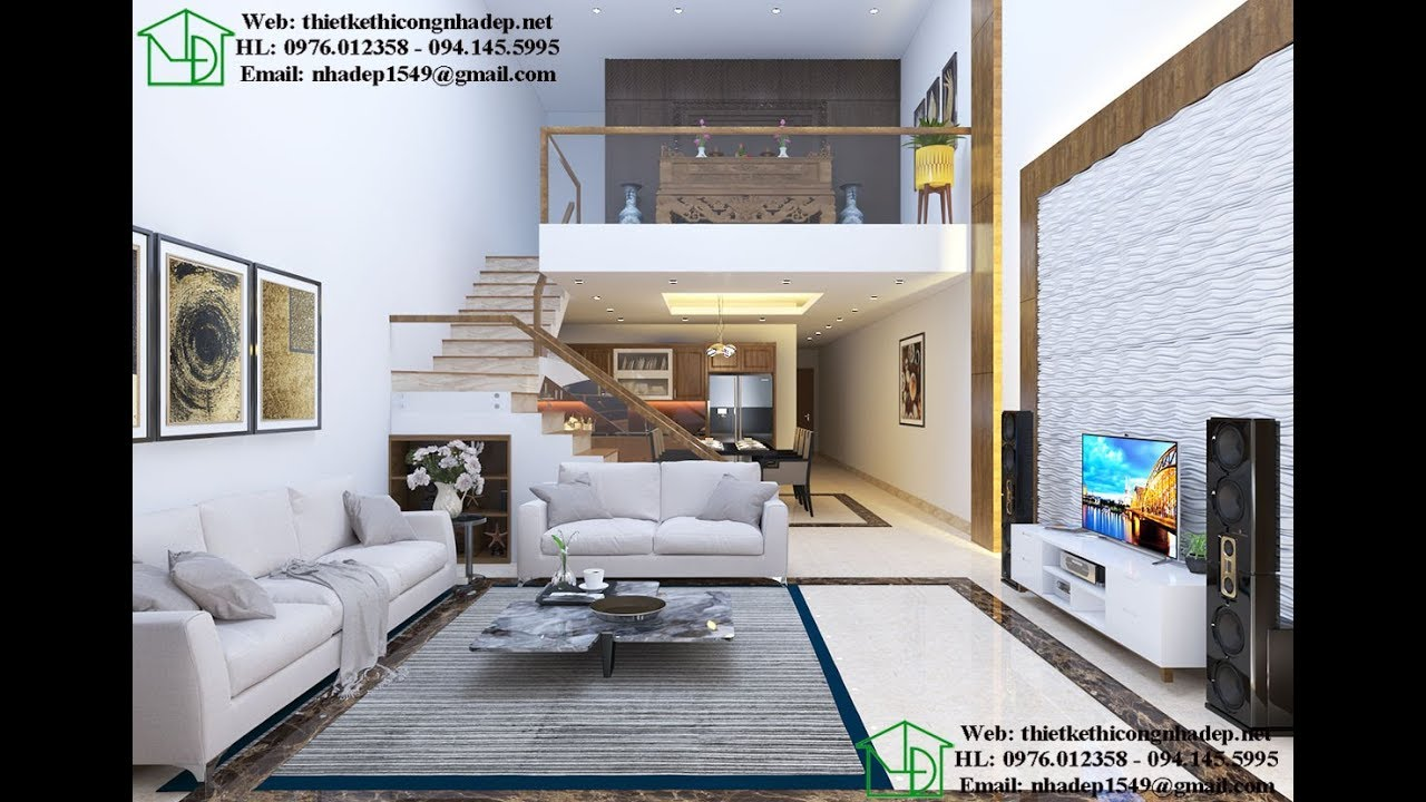 Thiết kế nội thất nhà cấp 4 gác lửng như biệt thự cao cấp NDNC465