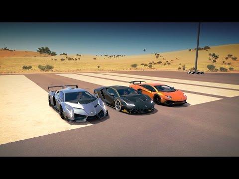 Lamborghini CENTENARIO vs VENENO vs AVENTADOR SV LP750-4 Drag Race | Forza Horizon 3