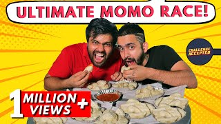 Momos Challenge at Dolma Aunty | Best Momos in Delhi | Indian Street Food | Challenge Accepted #29