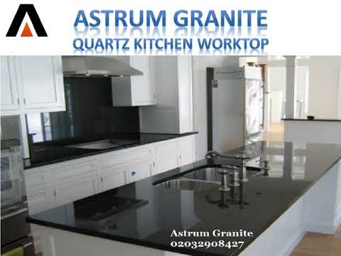 Black Mirror Quartz Kitchen Worktop In London UK   Astrum Granite
