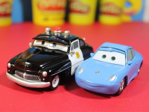 disney store exclusive cars sheriff and sally youtube. Black Bedroom Furniture Sets. Home Design Ideas