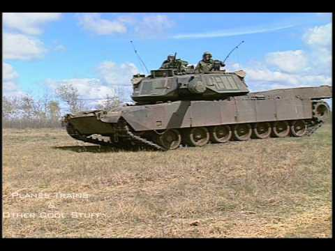 Leopard 1 and M1 Abrams tanks moving and firing - pure sound