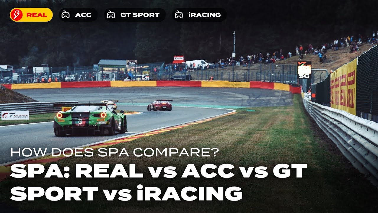 Onboard Spa: Real vs ACC vs GT Sport vs iRacing