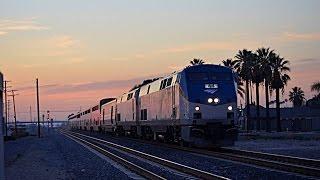 Union Pacific, BNSF on Metrolink on Amtrak Sunset Limited