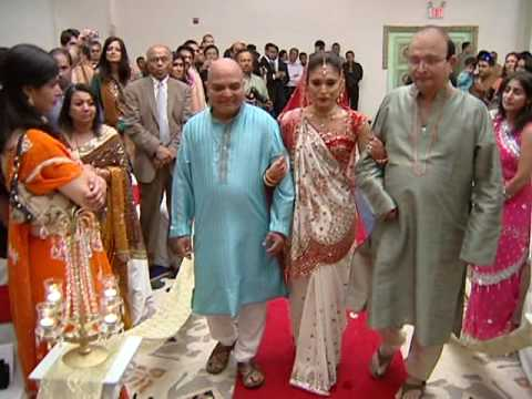Walking Down the Aisle An Traditional Indian Hindu Wedding Ceremony in Fords NJ