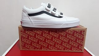 UNBOXING !! VANS Os Velcro off the wall White