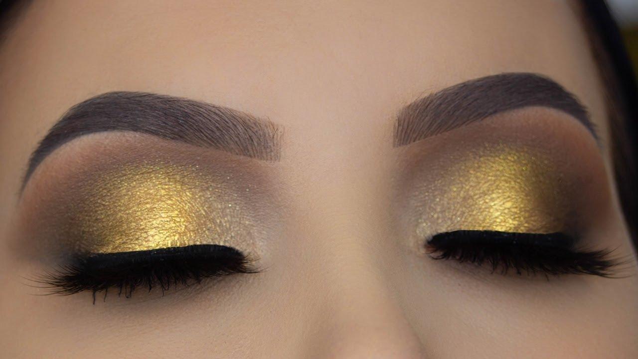 2ee603cb4f5 Golden Bridal Eye Makeup Tutorial - YouTube