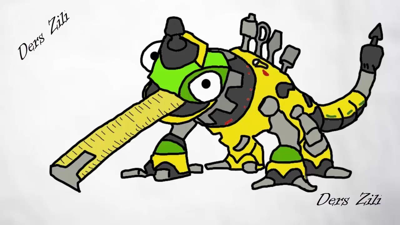 Dinotrux Dinozor Makineler Revvit Pc De çizdik Dinotrux