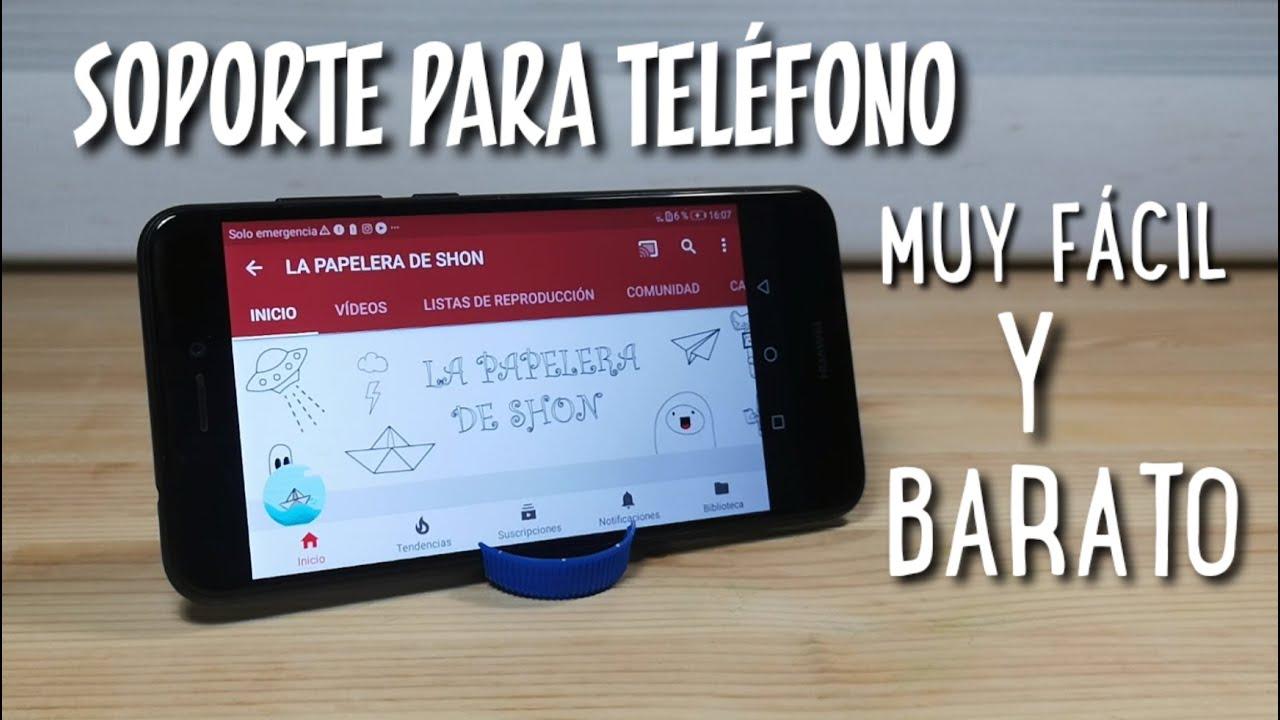 COMO HACER EL SOPORTE PARA EL TELÉFONO MÁS FÁCIL Y BARATO