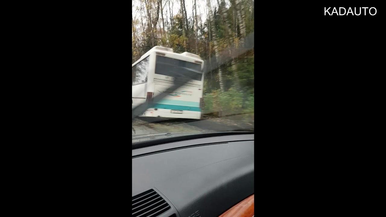 ДТП на дороге Калининград-Балтийск. Автобус столкнулся с деревом. 23.10.17