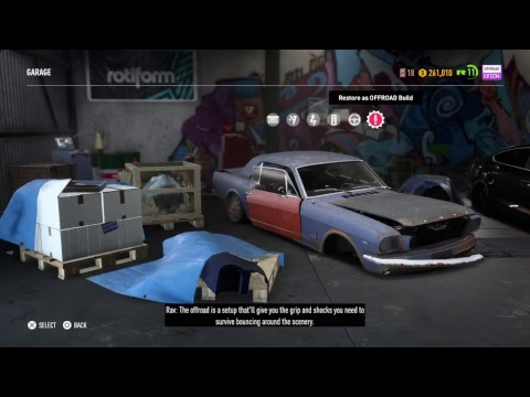 Need For Speed Payback UNLOCKING ALL VISUAL CUSTOMIZATION AND REBULDING A NEW CAR