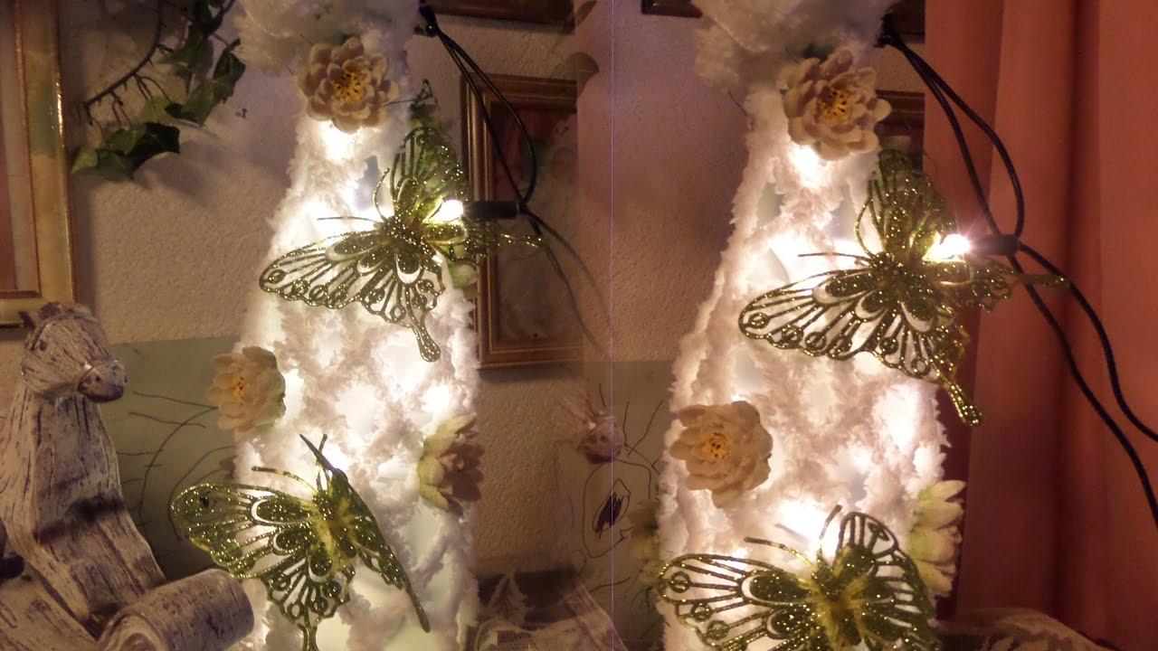 diy led schmetterlings deko leuchte lampe selber machen upcycling geschenk idee youtube. Black Bedroom Furniture Sets. Home Design Ideas