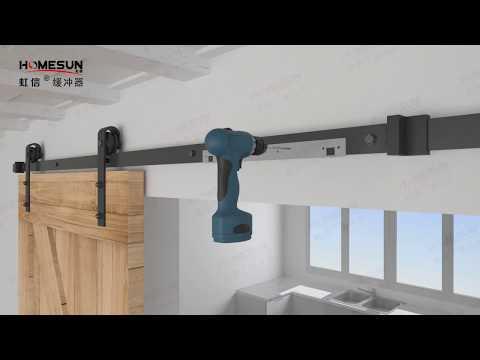 Barn Door Hardware How To Install Soft Close Sliding Barn Door Damper Youtube
